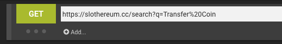 Remember to use URL encoding in the query params!